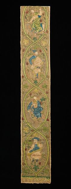 The needlework known as Opus Anglicanum represents the finest of medieval English embroidery, in both the secular and ecclesiastic worlds.