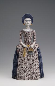 A pottery figure of a Frisian lady c.1780