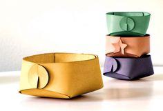 Yellow leather organizer jewelry organizer by SKANDINAVIOUS, $54.00