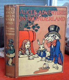 CARROLL Alice in Wonderland CHARLES ROBINSON 1910 ~ Rare 2nd printing