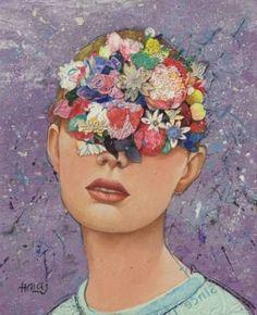 "Saatchi Art Artist Minas Halaj; Portrait Painting, ""Girl From LA LA Lend"" #art"