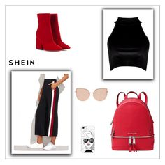 """SHEIN contest"" by daa-nee ❤ liked on Polyvore featuring Boohoo, Maison Margiela, MICHAEL Michael Kors, Casetify and Topshop"