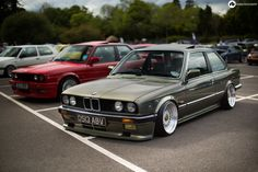 It's a BMW on the outside, with a BMW engine (likely a out of an but it's not clear) on the inside. Rolls Royce, Bmw E30 M3, Bmw E30 Stance, Tuning Bmw, Bmw 318, Bavarian Motor Works, Bmw Classic Cars, Old School Cars, Bmw 2002