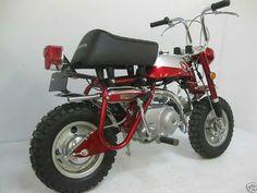 1970 Honda Z50 Minitrail Minibike Honda Cycles, Honda Motorcycles, Vintage Cycles, Vintage Bikes, Custom Mini Bike, Mini Motorbike, Four Stroke Engine, Honda Cub, Japanese Motorcycle