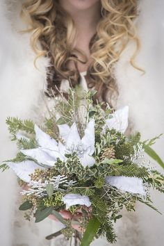 Photo from COLDSTREAM FARM WINTER STYLED SHOOT collection by Brad Quarrington Photography Florals: Petals In Thyme Dress and Cape: Exchanging Vows Bridal Boutique Vows Bridal, Bridal Boutique, Originals, Florals, Cape, Winter Fashion, Pictures, Dress, Photography