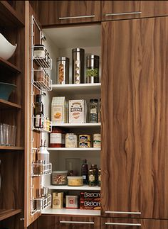 Check out this wall packaged food Cabinet http://www.CabinetsAndDesigns.net/Cabinetry/Kitchens/