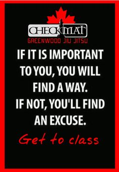 make no excuses...just get it done