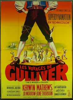 MovieArt Original Film Posters - GULLIVER'S TRAVELS (1960) 17303, $500.00 (http://www.movieart.com/gullivers-travels-1960-17303/)