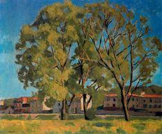Albert Marquet - Trees in Billancourt Raoul Dufy, Henri Matisse, Rio Sena, France Art, Tree Trunks, Landscape Paintings, Nature, City Scapes, Parisians