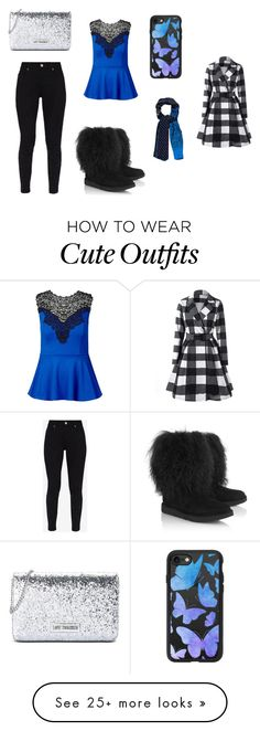 """Story outfit or fanfic"" by renayramos on Polyvore featuring UGG, Ted Baker, City Chic, Love Moschino and Casetify"