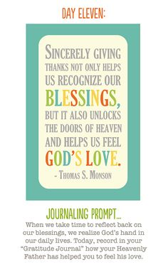 "i love the idea of a ""gratitude journal"".  this would be a good quote to put in the front."