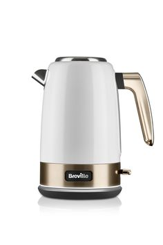 Breville New York Collection Electric Jug Kettle, Fast Boil, 3 KW, liters, White & Gold Kettle And Toaster, Cord Storage, Waste Disposal, Touch Of Gold, Recycling Bins, White Gold, Kitchen Appliances, New York, Kettles