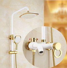 E Küche Küchenarmatur Waschtischarmatur Mischbatterie Spülbecken Armatur  Armatur Wasserhahn Bad Antique Copper Shower Set Retro Shower Bathroom Wall  Mounted ...