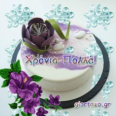 La Multi Ani Gif, Greek, Label, Happy Birthday, Desserts, Beautiful, Food, Happy Brithday, Tailgate Desserts