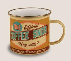 Enamel Mug Coffee Snob