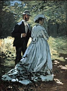 Couple in Woods, Claude Monet & wife Camille