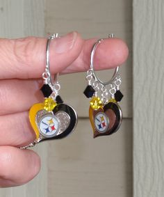 Pittsburgh Steelers Inspired Black and Gold Heart by scbeachbling, $19.00