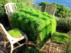 hessian and grass table centre - Google Search