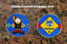 Bottle Cap Neckerchief Slides for the Blue and Gold Banquet. This site has a lot of great neckerchief slide ideas and also other great Cub Scout Ideas compliments of Akela's Council Cub Scout Leader Training: Utah National Parks Council has planned this exciting 4 1/2 day Cub Scout Leader Training. This fast-paced and inspiring training covers lots of Cub Scout Info and Webelos Outdoor Experience, Cub Scouts with disabilities and much more. Any Cub Scout Leader from any council is invited.