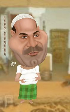 طارق العلي كاريكاتير بورتريه  tareq Al-Ali caricature portrait
