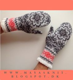 Nordic Knit. Mittens made on knitting machine. See other items on www.mayasknit.blogspot.dk