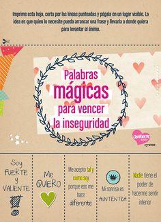 TIPS & TOOLS Palabras mágicas para vencer la inseguridad | Cyzone Quiérete