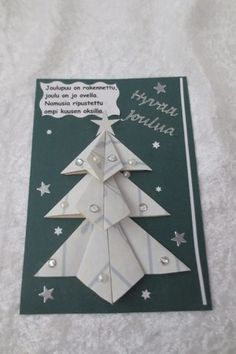 Joulukortteja :: Elisedesign-and-bake Quilling, Origami, Gift Tags, Christmas Cards, Baking, Malli, Gifts, Diy, Card Ideas