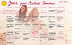 Your Tone It Up Fitness calendar for the start to your Endless Summer ♥