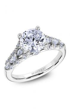 Scott Kay Luminaire - 14k yellow gold 0.53ctw Diamond Engagement Ring, M2620RM520  product image