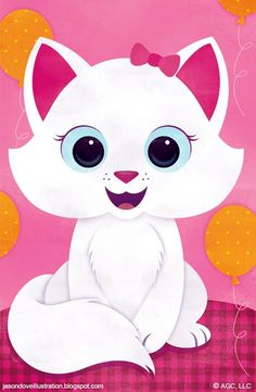 Kitten Cartoon Baby Animals, Cartoon Kids, Cute Animals, Cute Images, Cute Pictures, Harry Potter Cat, Anime Moon, Gata Marie, Owl Classroom