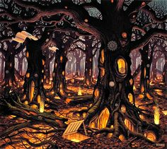 jacek yerka autumn - Google Search
