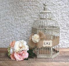 Wedding Birdcage, Rustic Wedding Card Box, Birdcage Card Holder - Personalized on Etsy, $60.50