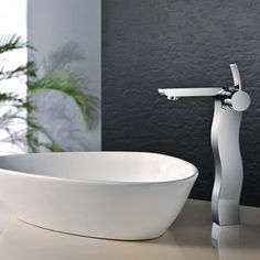 Buy the Kraus Chrome Direct. Shop for the Kraus Chrome Sonus Single Hole Vessel Bathroom Faucet - Metal Pop-Up Drain Included and save. Widespread Bathroom Faucet, Lavatory Faucet, Bathroom Sink Faucets, Oil Rubbed Bronze Faucet, Commercial Faucets, Single Handle Bathroom Faucet, Glass Vessel Sinks, Delta Faucets, Amazing Bathrooms
