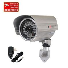 """VideoSecu Outdoor Day Night IR Bullet Security Camera Infrared Weatherproof CCTV Home 1/3"""" Color CCD 420 TV Lines Wide Angle Lens with Free Power Supply A71 - For Sale Check more at http://shipperscentral.com/wp/product/videosecu-outdoor-day-night-ir-bullet-security-camera-infrared-weatherproof-cctv-home-13-color-ccd-420-tv-lines-wide-angle-lens-with-free-power-supply-a71-for-sale/"""