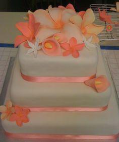 Hawaiian Wedding Cake in my color: peach this be cute