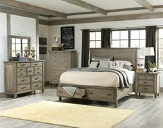 Coastal Master Bedroom Ideas: Brownstone 3pc (Bed, Mirror And Dresser) by Legacy at Kensington Furniture. Perfect set for a coastal bedroom.