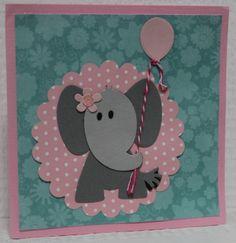 Gemaakt door Sophie # kaart met olifantje