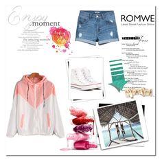 """ROMWE"" by dzidzaaa ❤ liked on Polyvore featuring Converse and GALA"