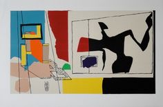 "LE CORBUSIER (1887-1965)  ""FEMME À LA FENÊTRE"" 1958, ED. 64 LITHOGRAFIE STEINSIGNIERT LIMITIERTE EDITION  42,2 X 64 CM  LITERATUR: LE CORBUSIER - THE GRAPHIC WORK, S.64 CHF 2300 PLUS 8% MWST  LE CORBUSIER (1887-1965)  ""WOMAN AT THE WINDOW"" 1958, ED. 64 LITHOGRAPH SIGNED IN THE STONE LIMITED EDITION 42,2 X 64 CM - 16 5/8 X 25 1/8 IN. LITERATURE: LE CORBUSIER - THE GRAPHIC WORK, PAGE 64"