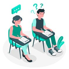 Exams concept illustration Free Vector | Free Vector #Freepik #freevector #education #student #test #exam Illustration Story, Graphic Design Illustration, Psychologist Office, Student Cartoon, Art Grants, Family Therapy, Instagram Frame, Online Tests, Do Homework