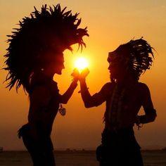 Sunrise at Burning Man 2013