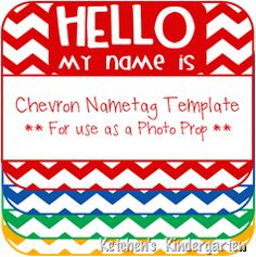 Freebie Nametag Template to use in photos