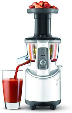 Buy this Breville Fountain Crush Masticating Slow Juicer with deep discounted price online today. Healthy Juice Recipes, Healthy Juices, Smoothie Recipes, Real Food Recipes, Best Juicer, Citrus Juicer, Fruit And Vegetable Juicer, Best Masticating Juicer, Juicer Reviews