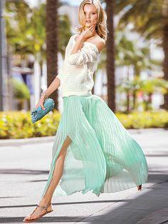 Pleated Maxi Skirt /Victorias Secret