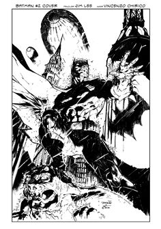 Batman #2 Cover Inking by VincentDorian.deviantart.com on @deviantART