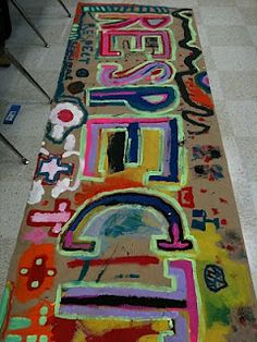 Visual Art at William Hall Academy 2008 - Respect Banner - First Day Activity Respect Activities, Teaching Respect, First Day Activities, Respect Lessons, Guidance Lessons, Collaborative Art Projects, Link Art, Boys And Girls Club, Art Education