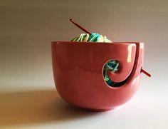 Yarn Bowl Yarn Holder Knitting bowl Crocheting bowl by DabaDos
