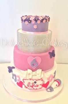 Glitter Violetta Cake #glitter #violetta #cake #cakedesign