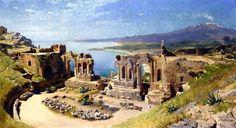 "Painter Peder Mork Monsted   ""Anfiteatro em Taormina""  Oil on canvas  - 1885   Beauty in Art"