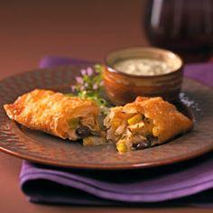 Southwest Egg Rolls & Cool Avocado Dip